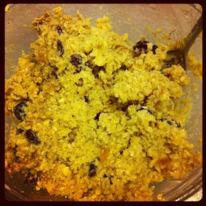 Oat and Fruit Cookies Mixing up