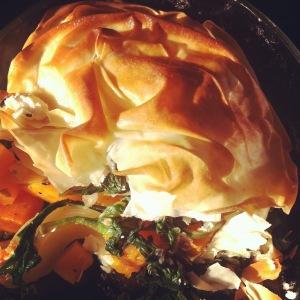 Golden Butternut and Filo Pie
