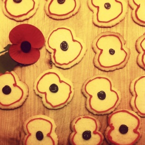 Remembrance Day Poppy Biscuits
